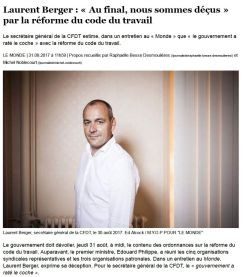 article du monde laurent berger